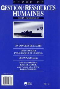 Revue de gestion des ressources humaines. n° 57, 16e Congrès de l'AGRH