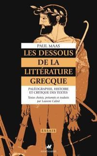 Les dessous de la littérature grecque