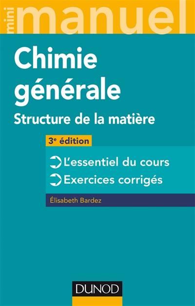 Mini-manuel de chimie générale