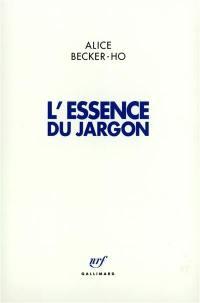 L'Essence du jargon
