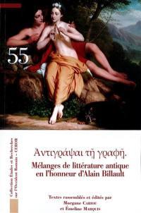 Mélanges de littérature antique en l'honneur d'Alain Billault