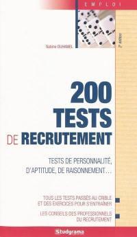 200 tests de recrutement