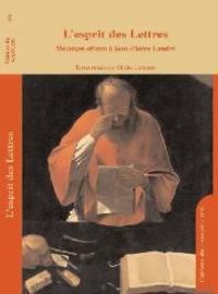 Cahiers du GADGES. n° 8, L'esprit des Lettres