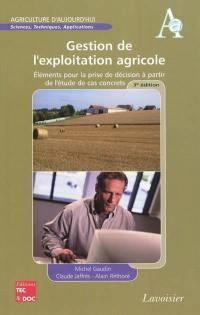 Gestion de l'exploitation agricole