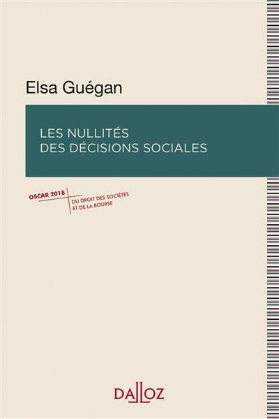 Les nullités des décisions sociales
