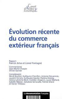 Evolution récente du commerce extérieur français