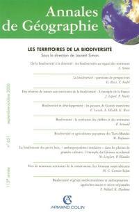 Annales de géographie, n° 651. Les territoires de la biodiversité
