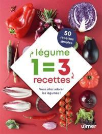 1 légume = 3 recettes