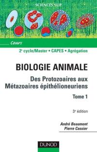 Animale biologie. Volume 1, Cours