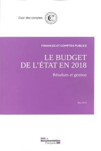 Le budget de l'Etat en 2018