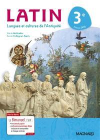 Latin, langues et cultures de l'Antiquité 3e