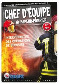 Connaissances élémentaires pour acquérir les compétences de chef d'équipe de sapeur-pompier