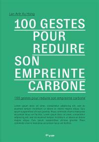 100 gestes pour réduire son empreinte carbone