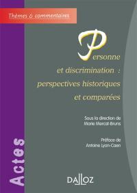 Personne et discrimination