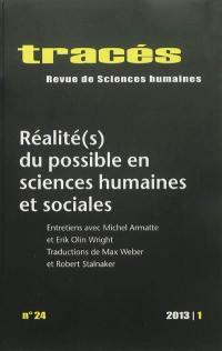Tracés. n° 24, Réalité(s) du possible en sciences humaines et sociales