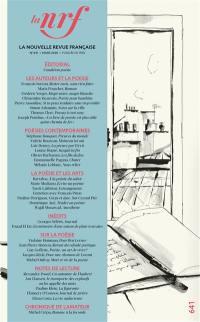 Nouvelle revue française. n° 641, Condition poésie