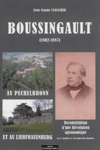 Boussingault (1802-1887) au Pechelbronn et au Liebfrauenberg