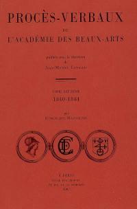 Procès-verbaux de l'Académie des beaux-arts. Volume 7, 1840-1844