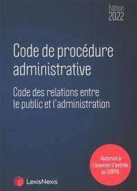 Code de procédure administrative 2022