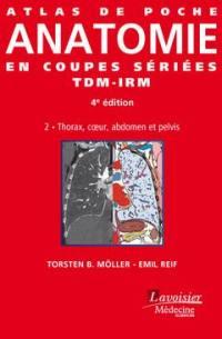 Atlas de poche d'anatomie en coupes sériées TDM-IRM. Volume 2, Thorax, coeur, abdomen et pelvis