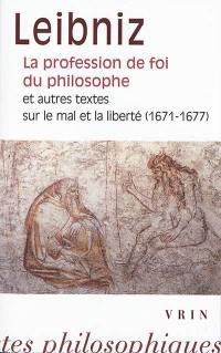 La profession de foi du philosophe