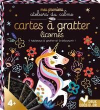 Cartes à gratter licornes : 4 tableaux à gratter et à découvrir !