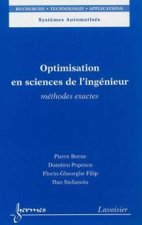Optimisation en sciences de l'ingénieur