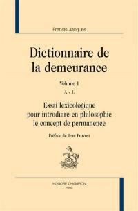 Dictionnaire de la demeurance