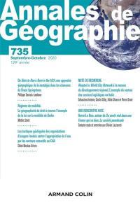 Annales de géographie. n° 735,