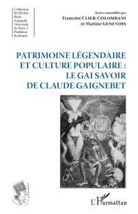 Patrimoine légendaire et culture populaire