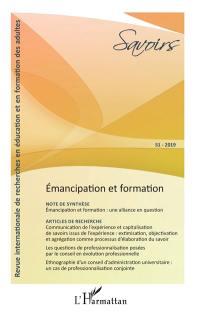 Savoirs. n° 51, Emancipation et formation