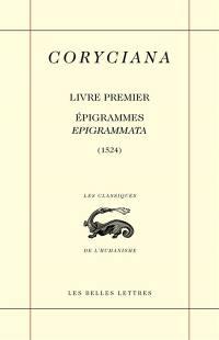 Coryciana. Volume 1, Epigrammes