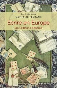Ecrire en Europe