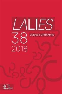 Lalies. n° 38, Actes des sessions de linguistiques et de littérature