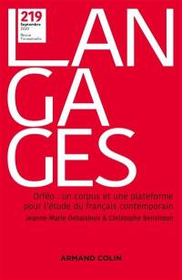 Langages. n° 219, Orféo