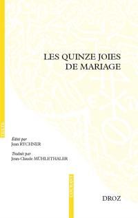 Les quinze joies de mariage