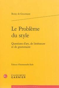 Le problème du style