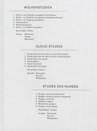 Wolkenstudien = Cloud studies = Etudes des nuages