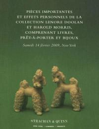 Pièces importantes et effets personnels de la collection Lenore Doolan et Harold Morris, comprenant livres, prêt-à-porter et bijoux : Maison de vente Strachan & Quinn, 14 février 2009, 10h et 14h, heure de New York